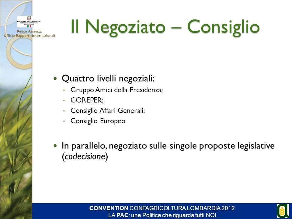 Il Negoziato – Consiglio