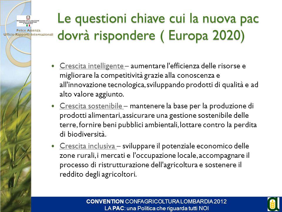 Le questioni chiave cui la nuova pac dovrà rispondere ( Europa 2020)