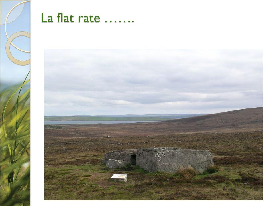 La flat rate …….