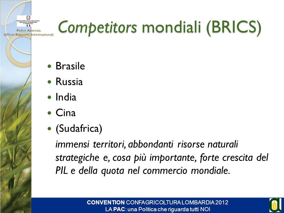 Competitors mondiali (BRICS)