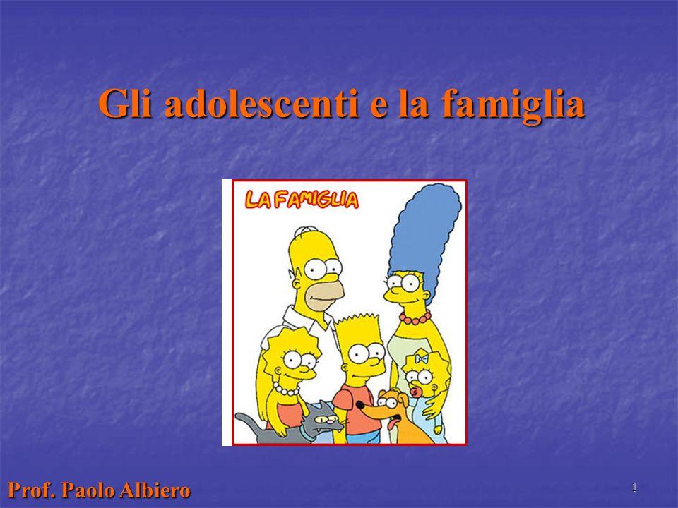 Gli adolescenti e la famiglia