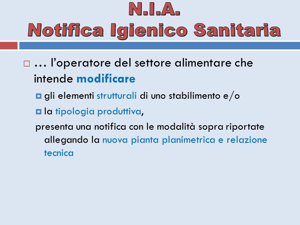 Notifica Igienico Sanitaria