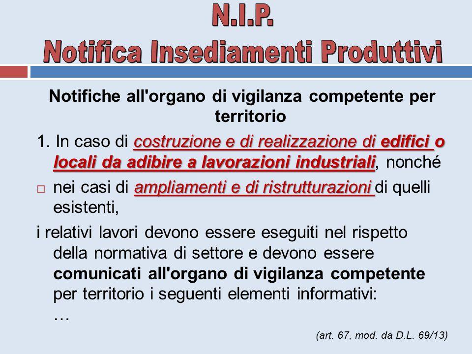 N.I.P. Notifica Insediamenti Produttivi