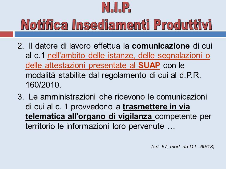 Notifica Insediamenti Produttivi
