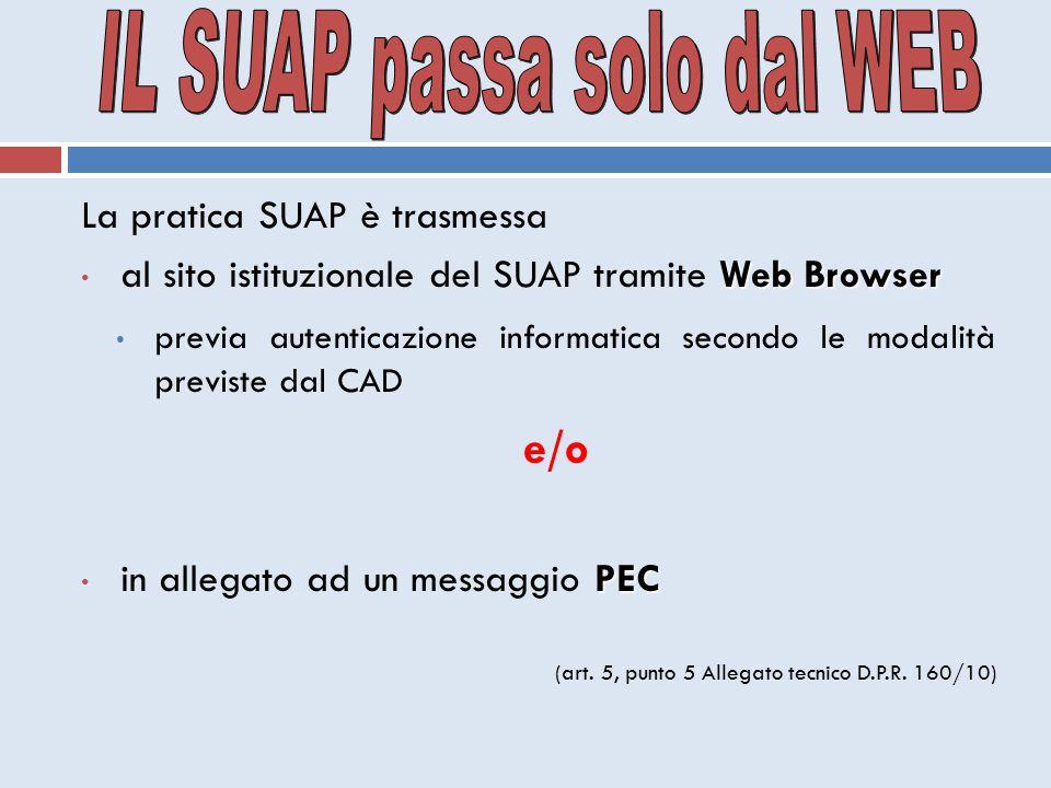 IL SUAP passa solo dal WEB