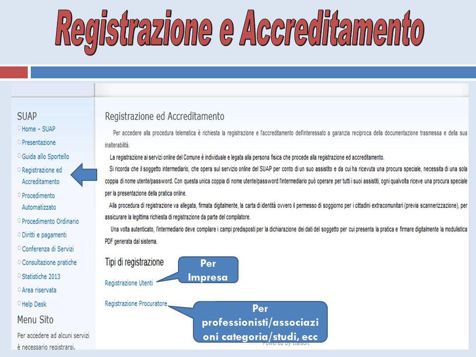 Registrazione e Accreditamento