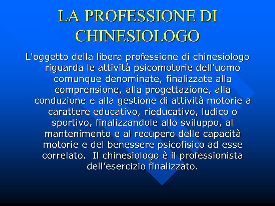 LA PROFESSIONE DI CHINESIOLOGO