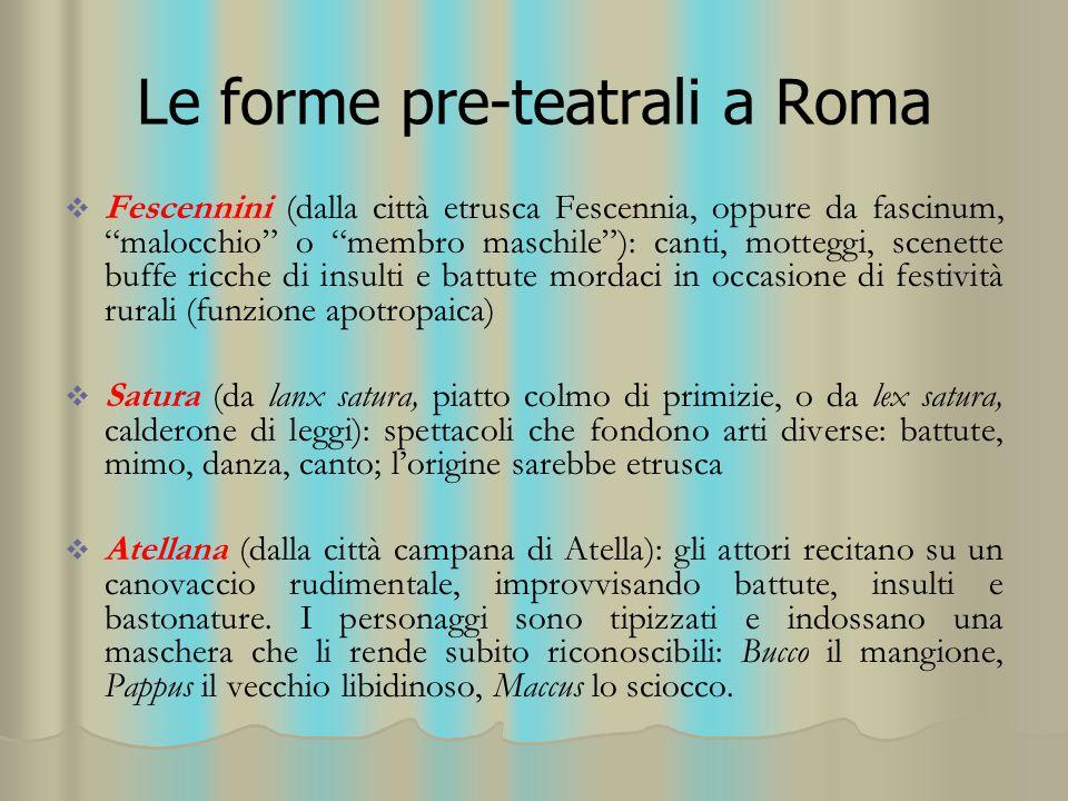 Le forme pre-teatrali a Roma