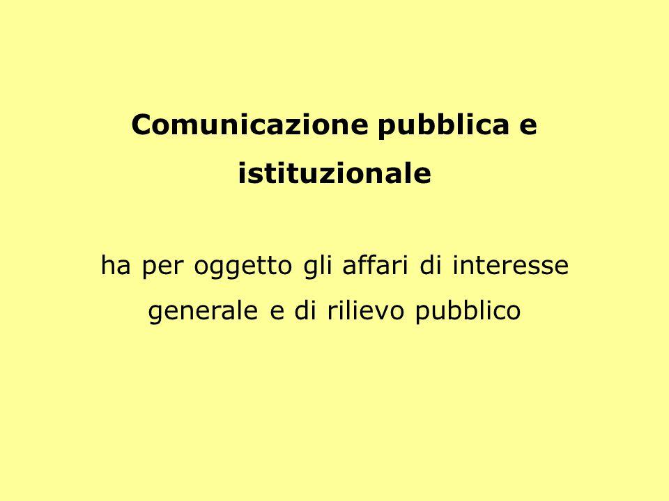 Comunicazione pubblica e istituzionale