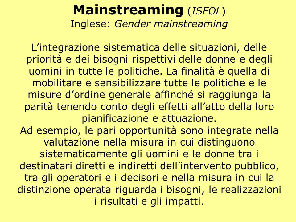 Mainstreaming (ISFOL)