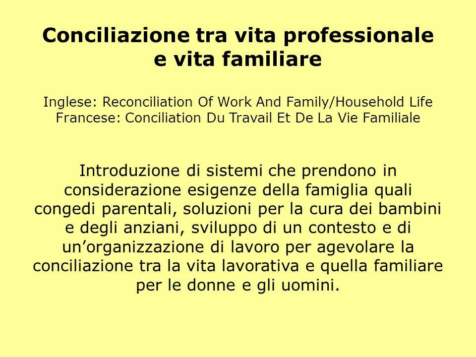 Conciliazione tra vita professionale e vita familiare