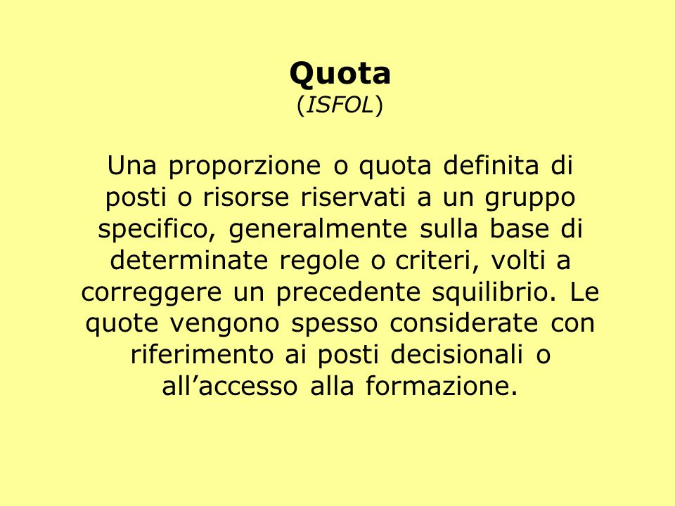 Quota (ISFOL)