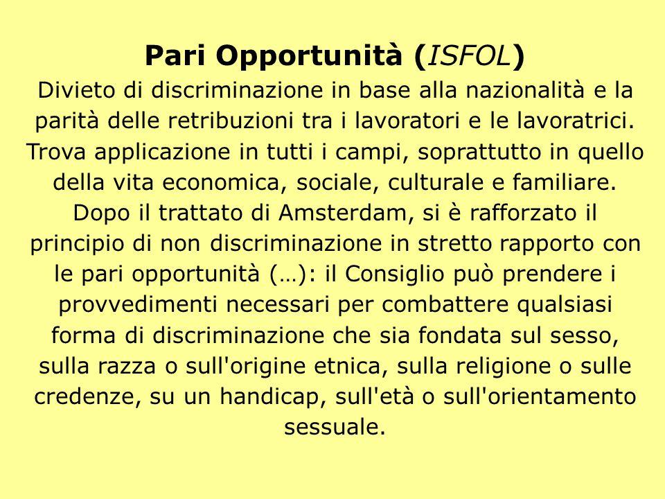 Pari Opportunità (ISFOL)