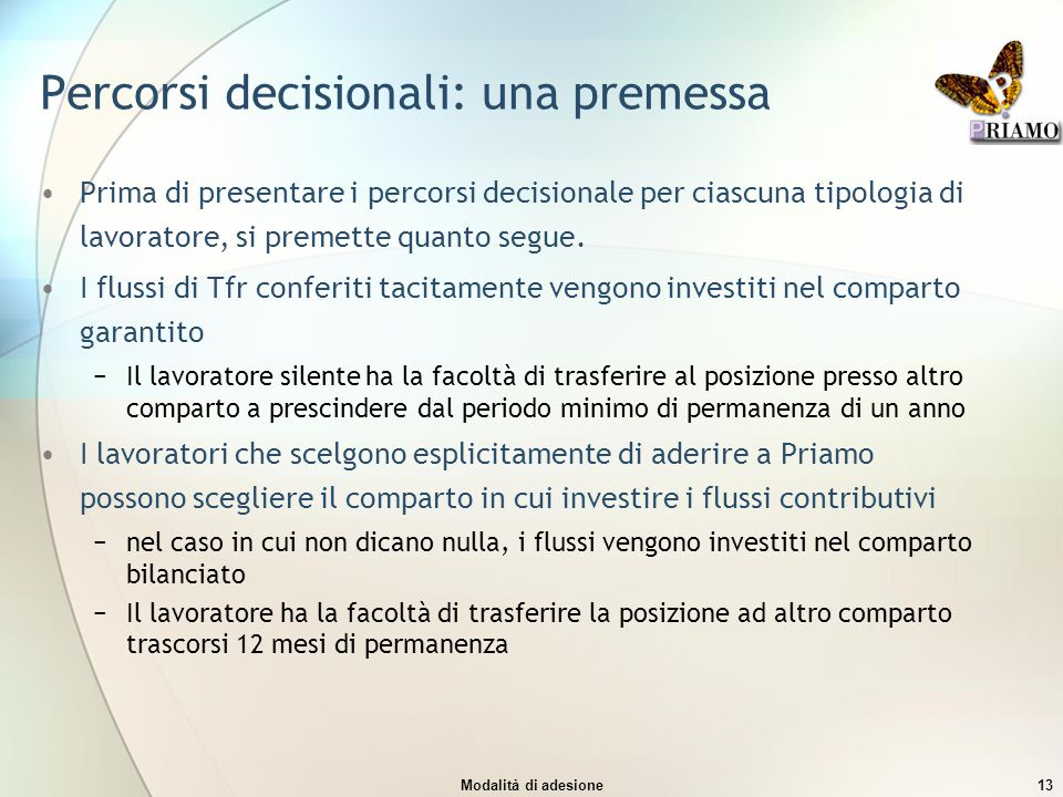 Percorsi decisionali: una premessa