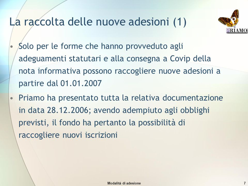 La raccolta delle nuove adesioni (1)