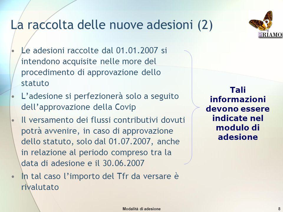 La raccolta delle nuove adesioni (2)