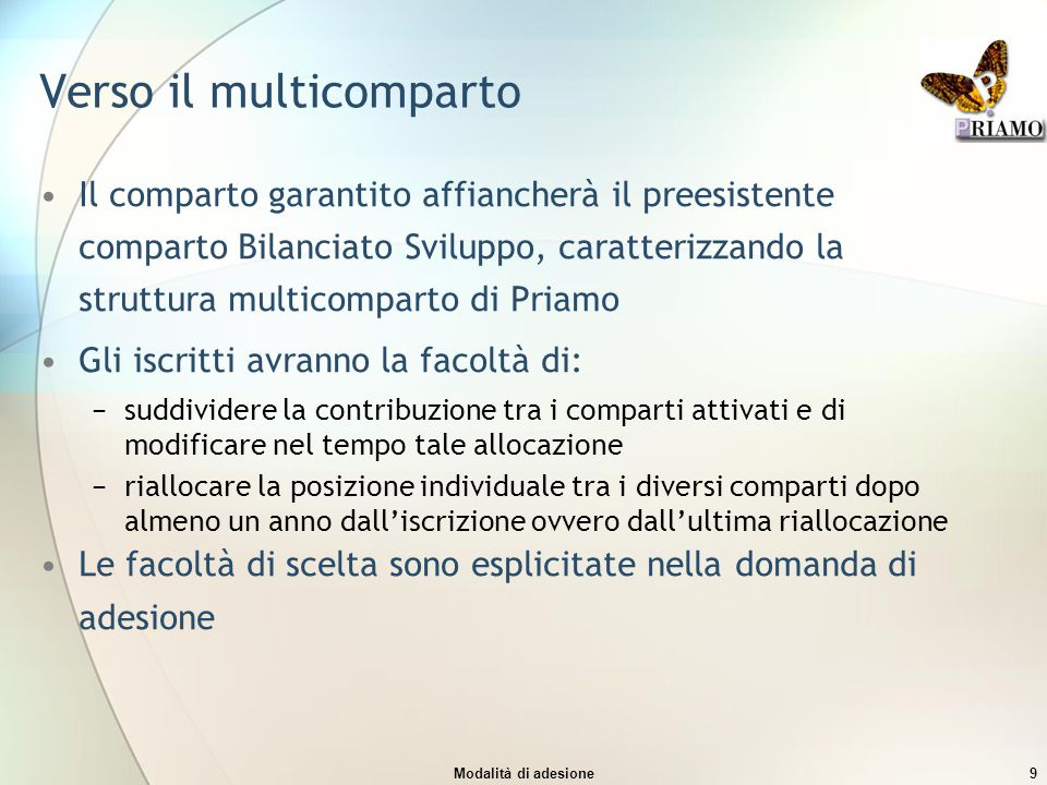 Verso il multicomparto