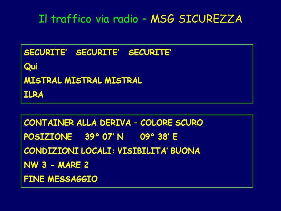 Il traffico via radio – MSG SICUREZZA