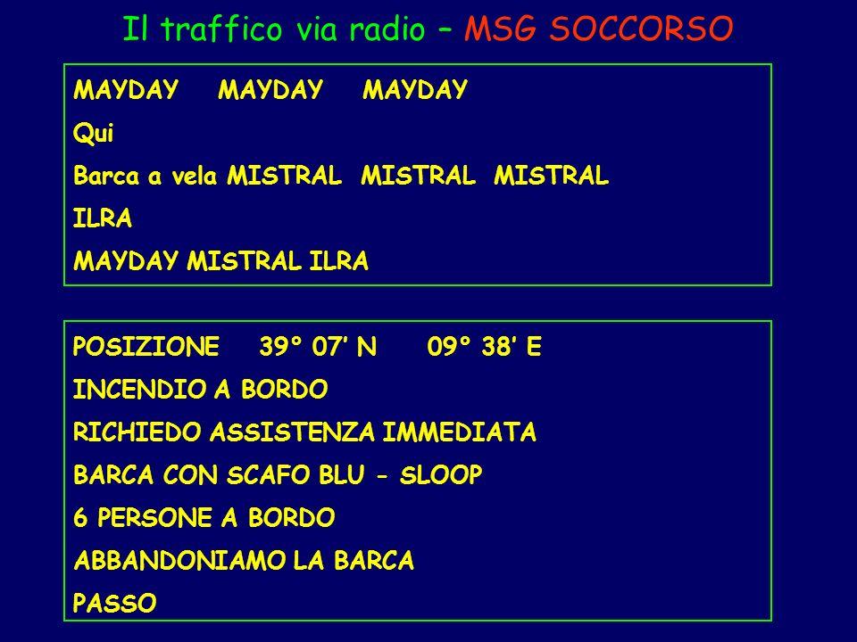 Il traffico via radio – MSG SOCCORSO