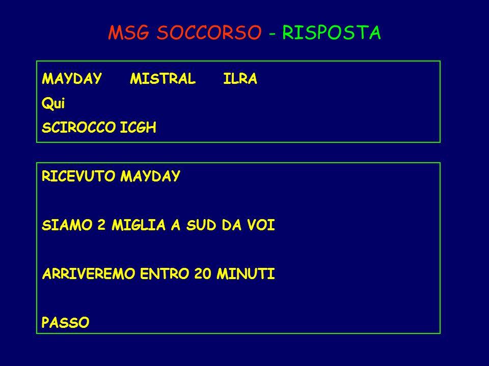 MSG SOCCORSO - RISPOSTA