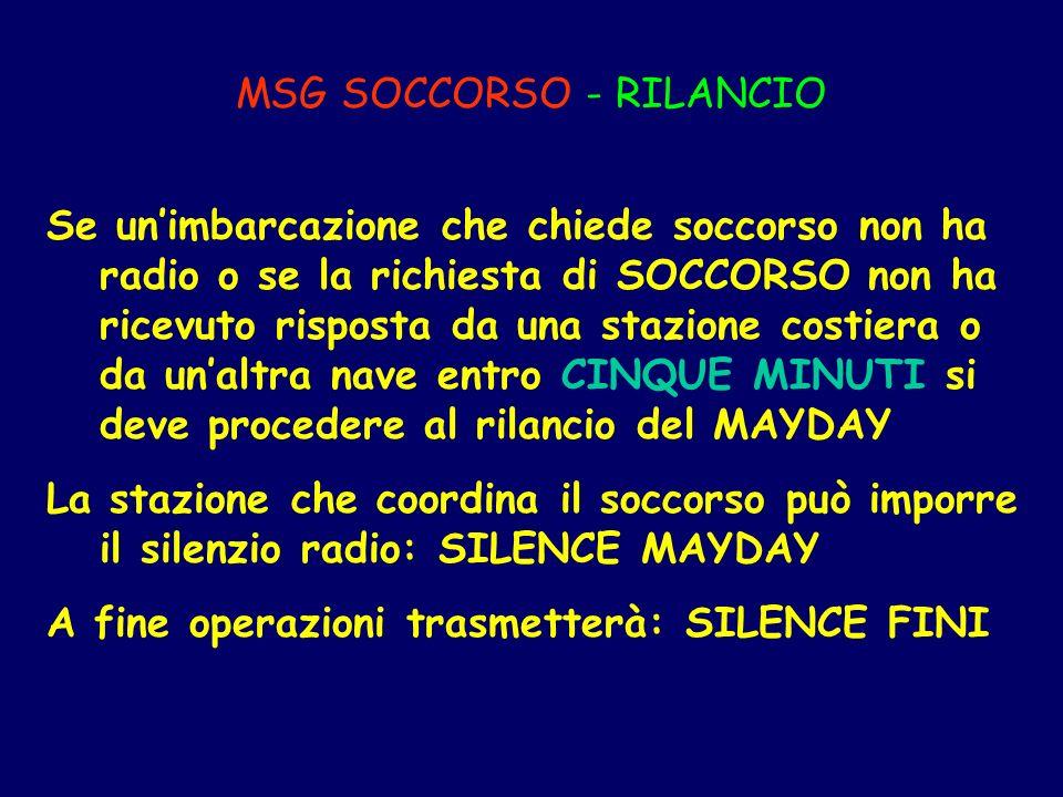 MSG SOCCORSO - RILANCIO