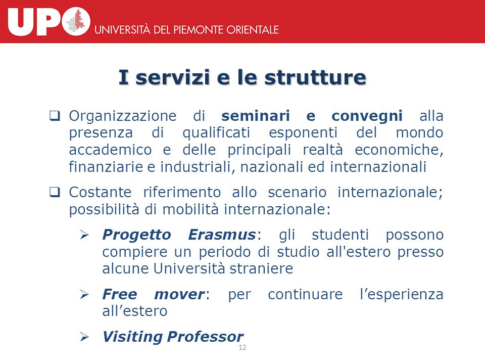 Ranking Università Il Dipartimento è stabilmente ai primi posti della classifica nazionale.