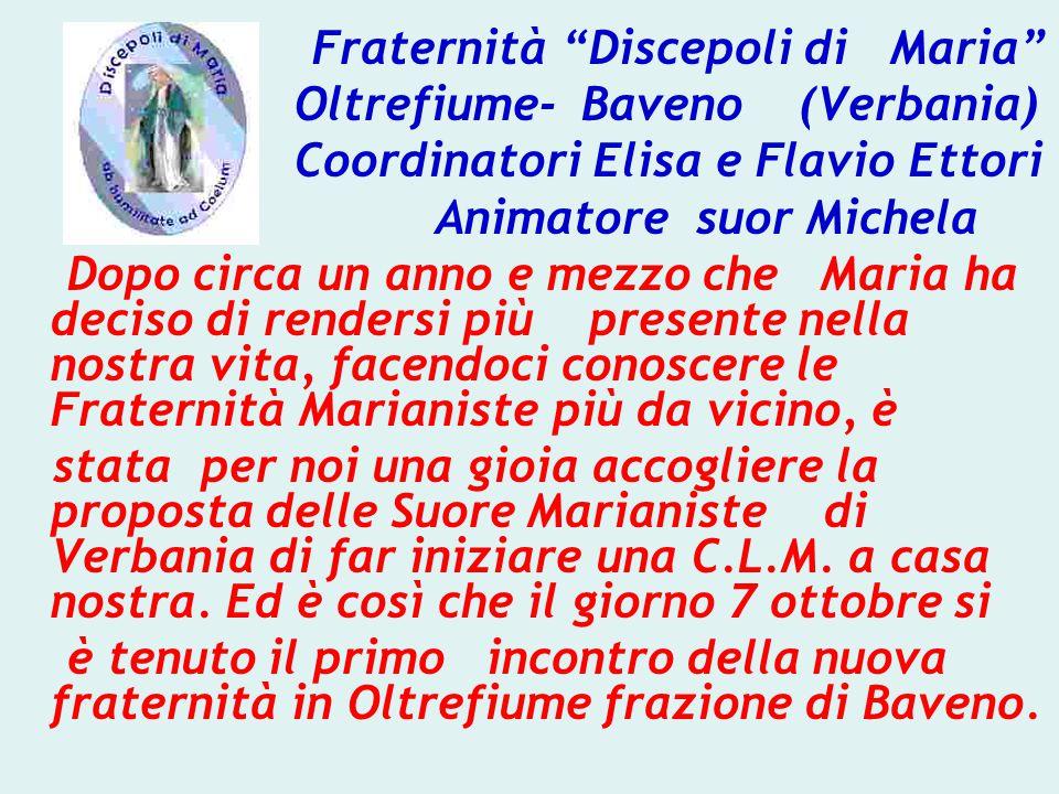 Oltrefiume- Baveno (Verbania) Coordinatori Elisa e Flavio Ettori