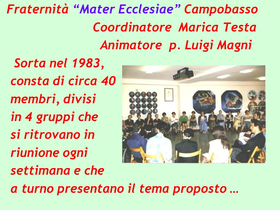 Fraternità Mater Ecclesiae Campobasso
