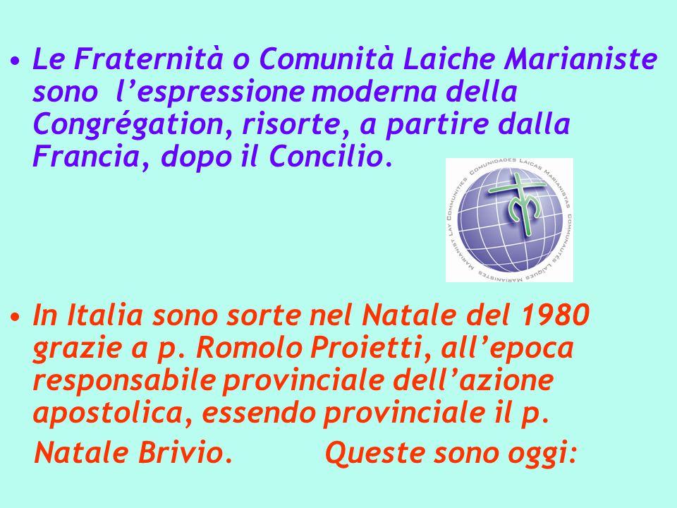 Le Fraternità o Comunità Laiche Marianiste sono l'espressione moderna della Congrégation, risorte, a partire dalla Francia, dopo il Concilio.