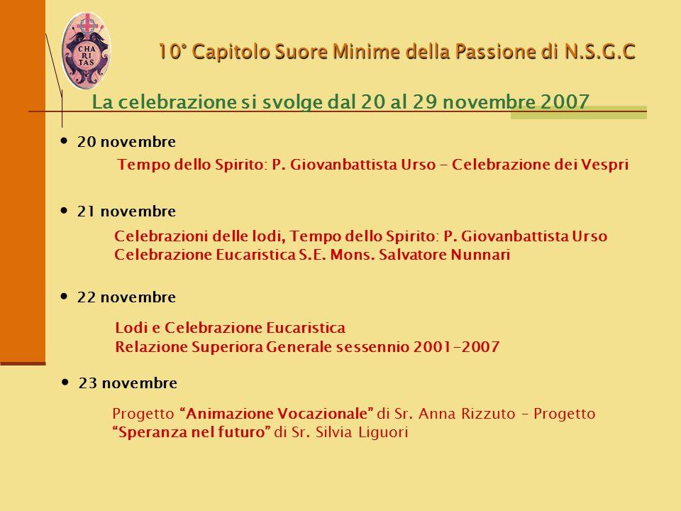 La celebrazione si svolge dal 20 al 29 novembre 2007