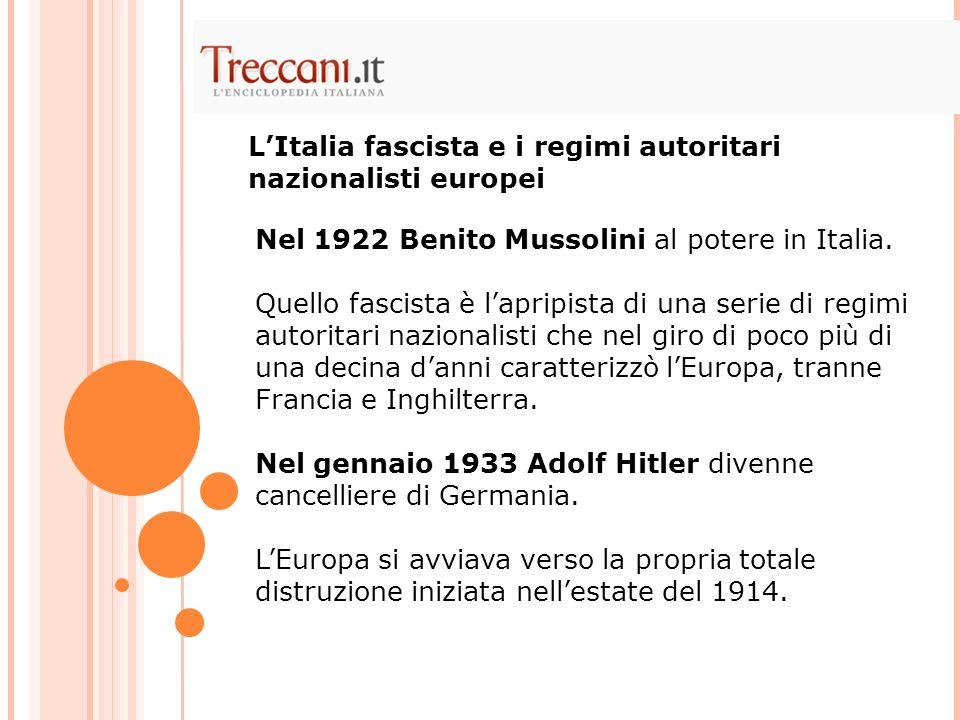 L'Italia fascista e i regimi autoritari nazionalisti europei