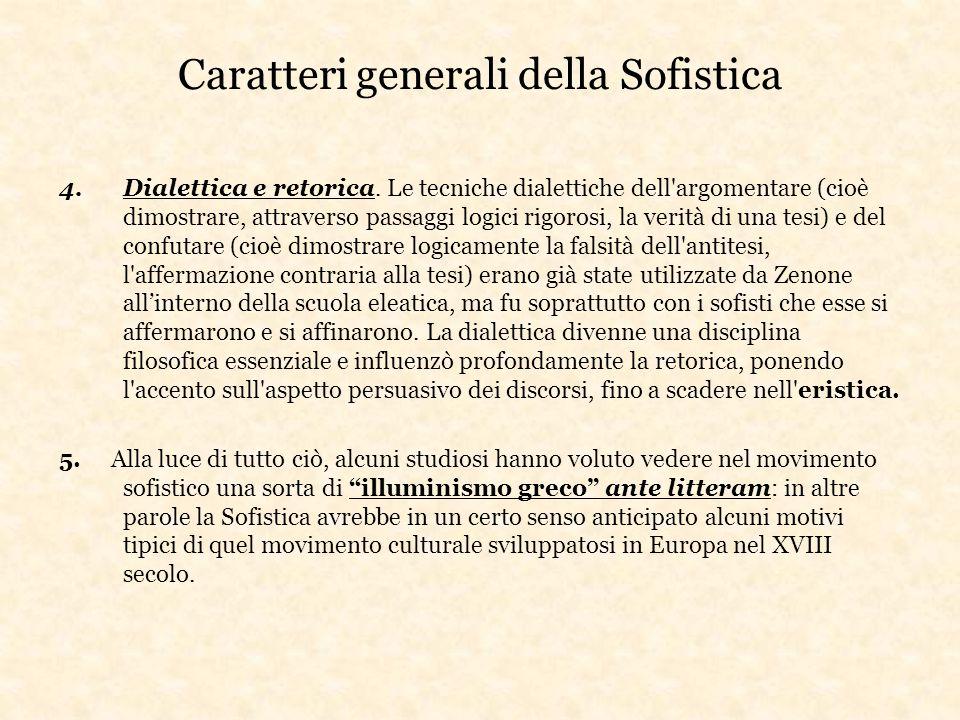 Caratteri generali della Sofistica