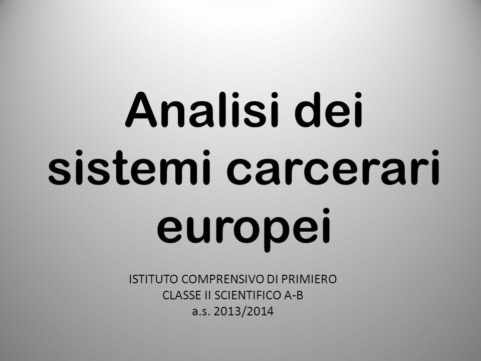 Analisi dei sistemi carcerari europei