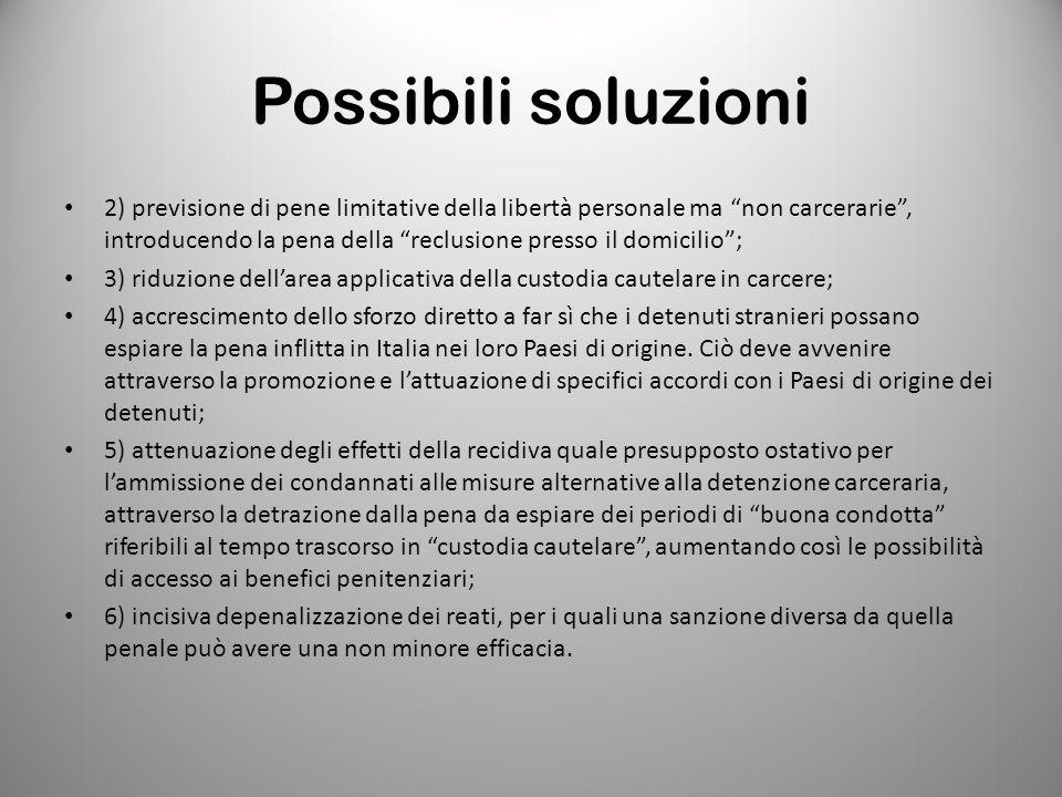 Possibili soluzioni