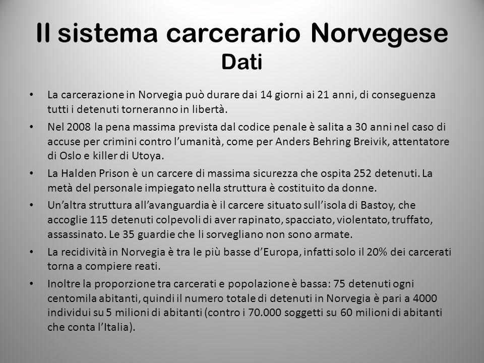Il sistema carcerario Norvegese Dati