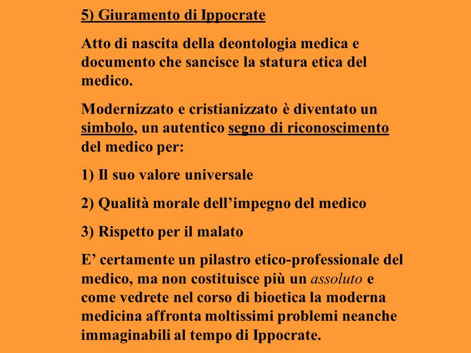 5) Giuramento di Ippocrate