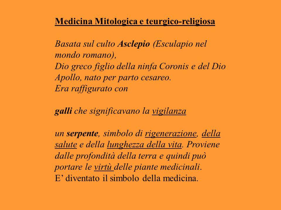 Medicina Mitologica e teurgico-religiosa