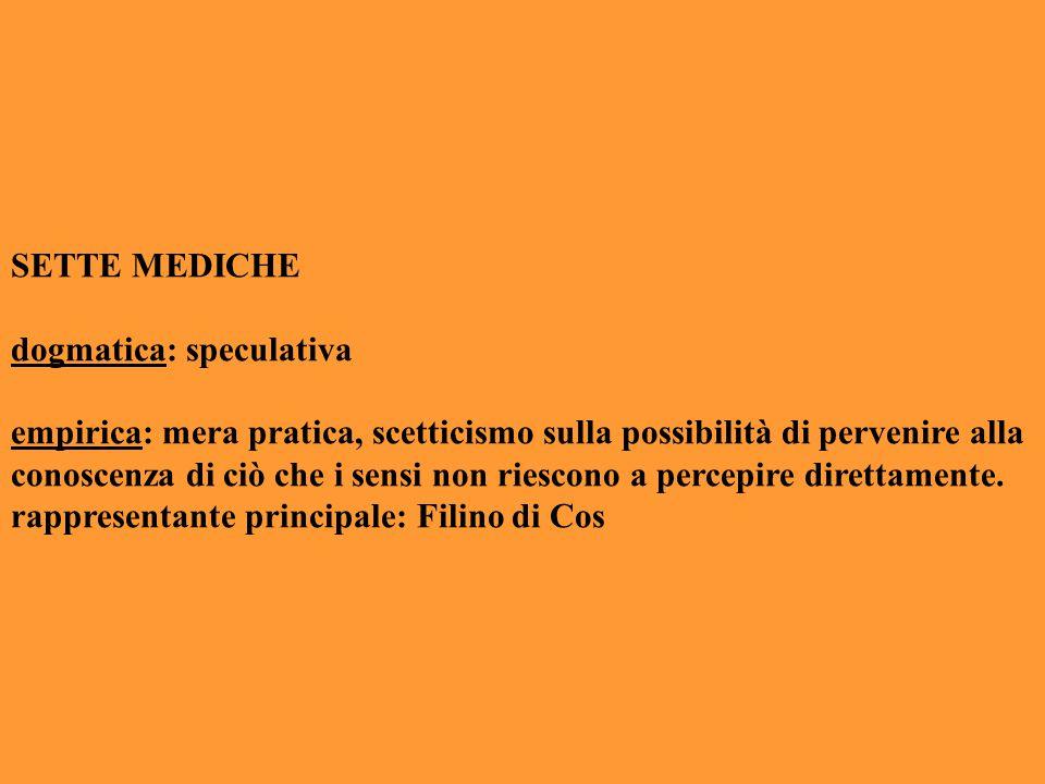 SETTE MEDICHE dogmatica: speculativa.