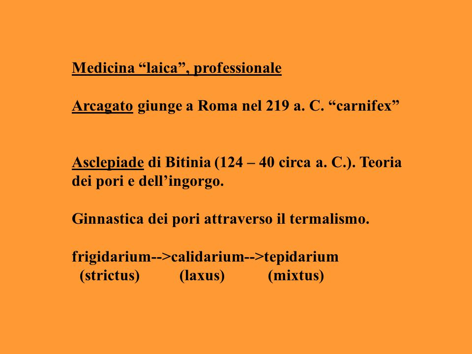 Medicina laica , professionale