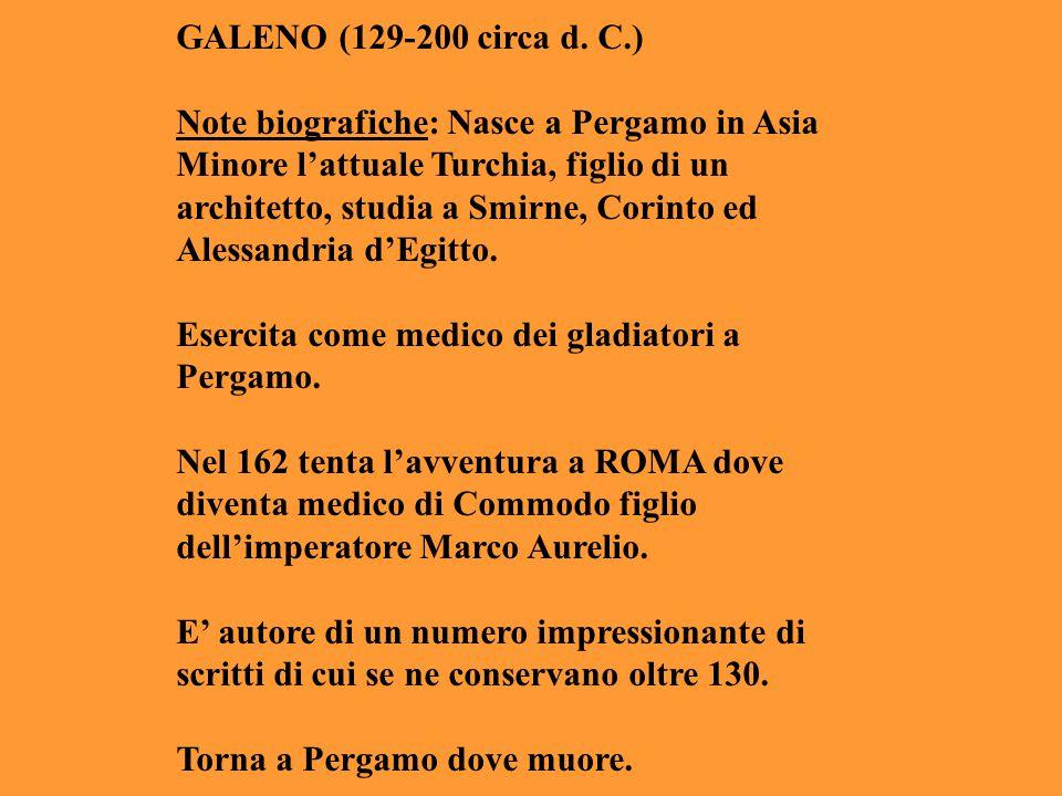 GALENO (129-200 circa d. C.)