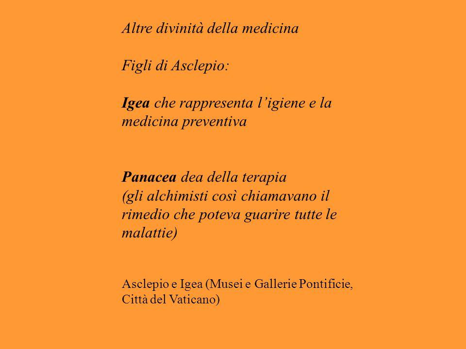 Altre divinità della medicina Figli di Asclepio: