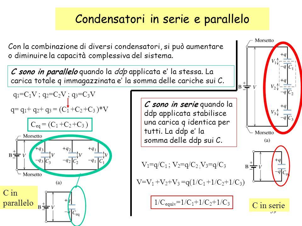 Condensatori in serie e parallelo