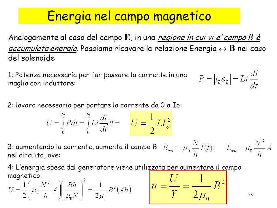 Energia nel campo magnetico