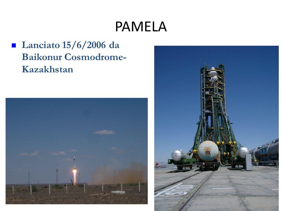 PAMELA Lanciato 15/6/2006 da Baikonur Cosmodrome- Kazakhstan