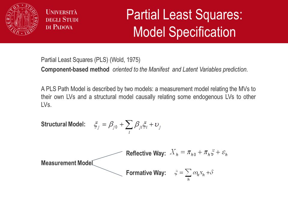 Partial Least Squares: Model Specification