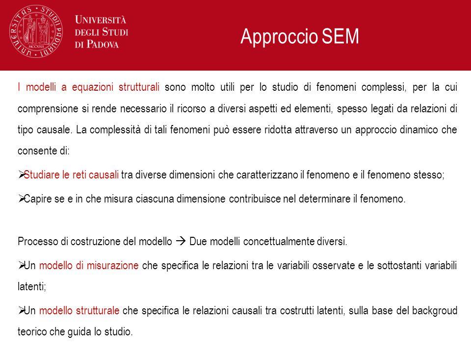 Approccio SEM