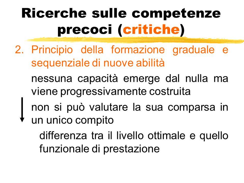 Ricerche sulle competenze precoci (critiche)