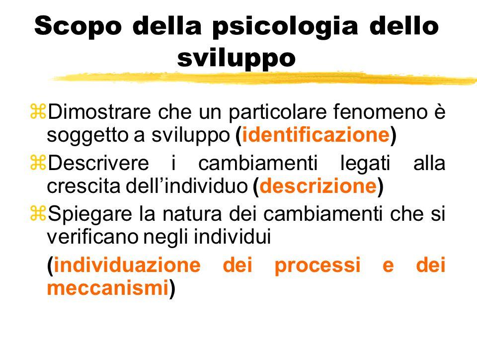 Scopo della psicologia dello sviluppo