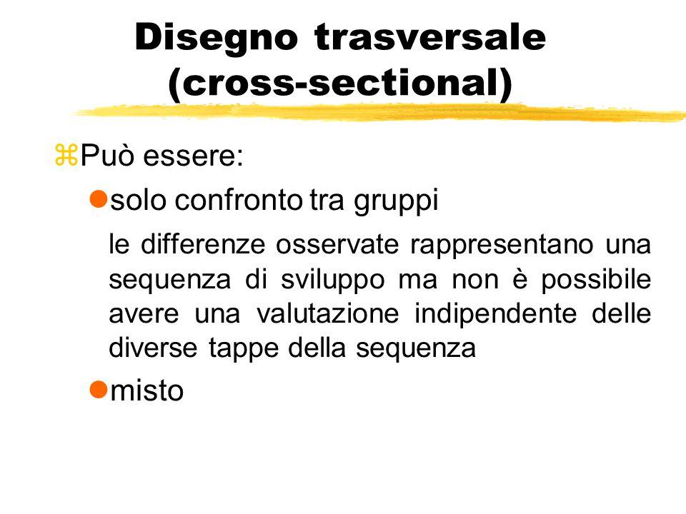 Disegno trasversale (cross-sectional)