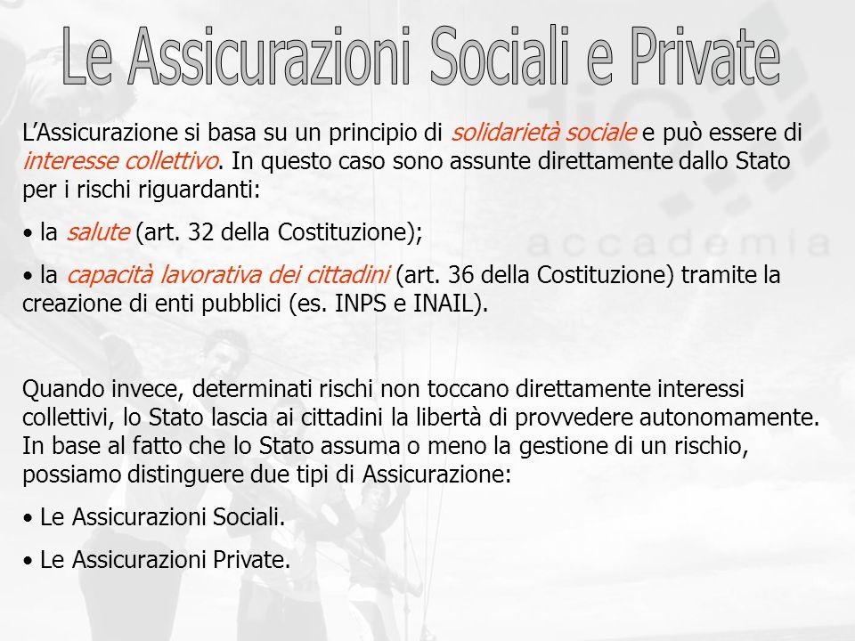 Le Assicurazioni Sociali e Private
